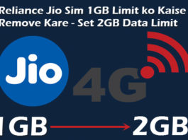 jio sim 1gb limit ko 2g kaise kare