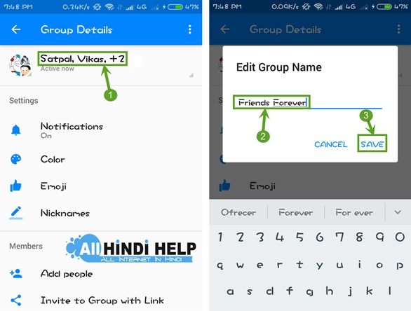 how to delete fb group conversation