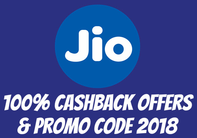 jio recharge cashback offer and promo code 2018