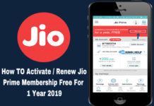 how to activate renew jio prime membership free for 1 year 2019
