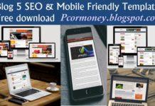 blog ke liye 5 best seo and mobile friendly template in hindi
