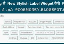 blog me New stylish Label widget kaise lagaye ya add kare hindi me jane