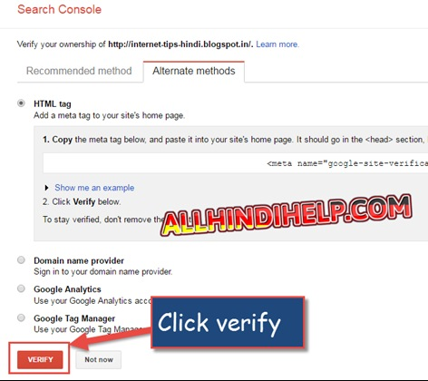 add blog google search console