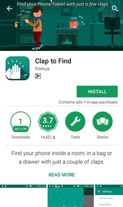 clap to find app
