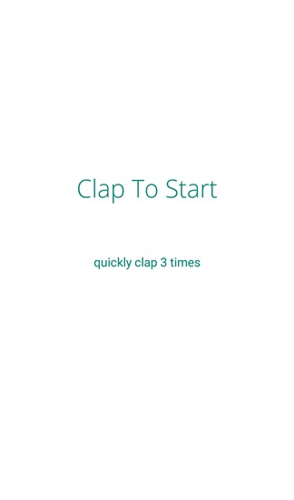 clap to start
