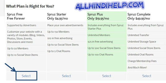 select-free-plan