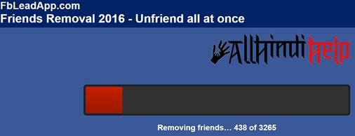 unfriend all facebook friend