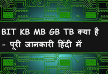 bit kb mb gb tb kya hai full detaill in hindi