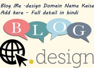 blog me design domain name kaise add kare in hindi