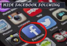 facebook following hide kaise kare chupaye