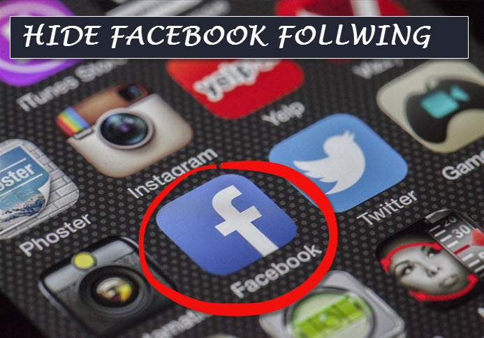facebook following hide kaise kare chupaye
