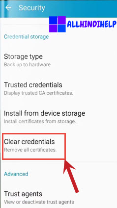select-clear-credential