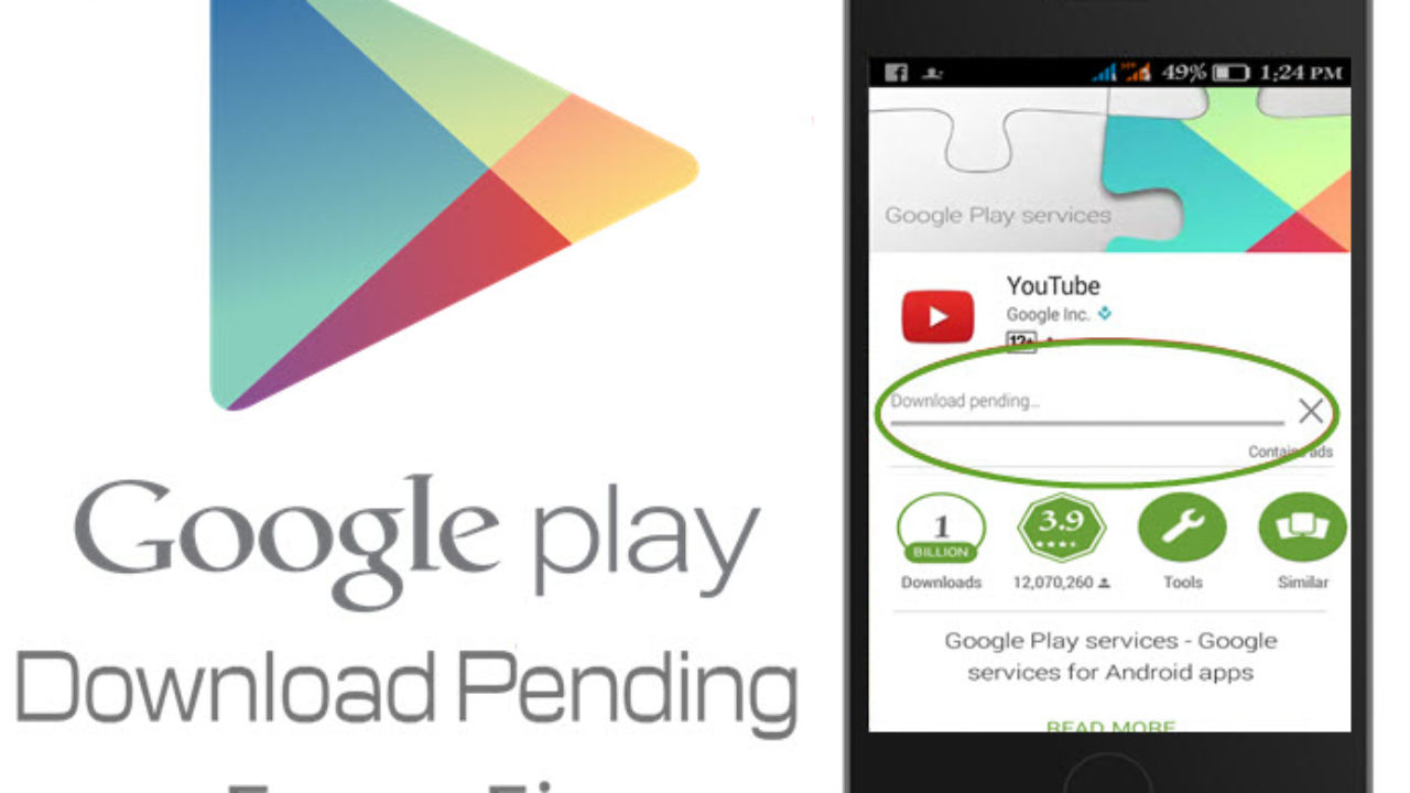 google play apps download pending