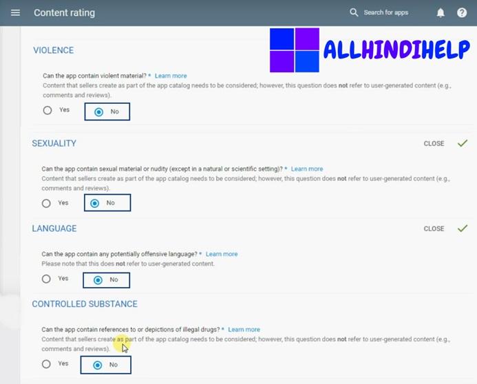 select-no-vilolance-language-etc