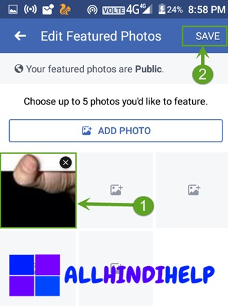 select supported thumb and save