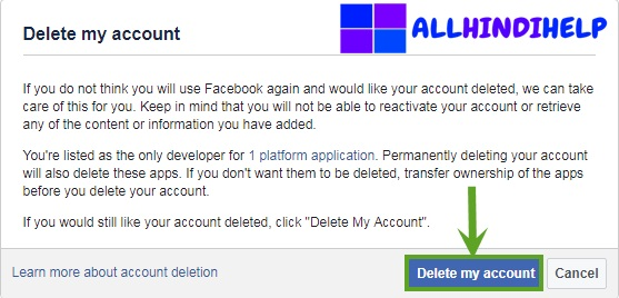 facebook account delete kiase karte hai
