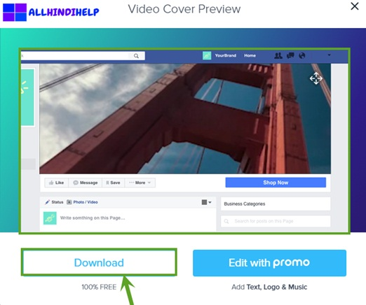facebook page cover video download