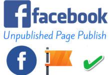 unpublished facebook page-publish kaise kare full detail
