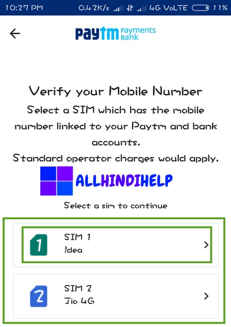 select-sim-which-number-registerd-by-your-bank