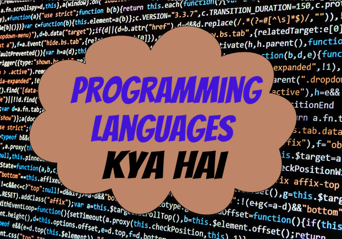 programming languages kya hai-types of programming languages in hindi
