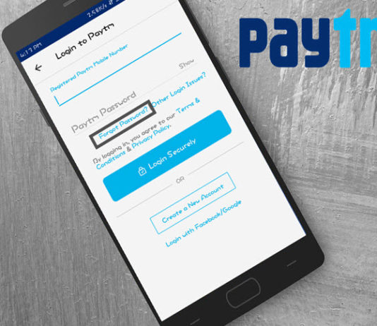 paytm password forgot reset kaise kare without old password