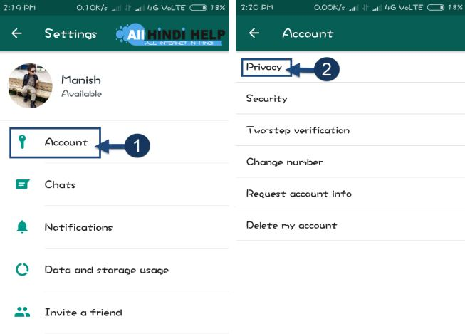 tap-on-account-and-privacy-option