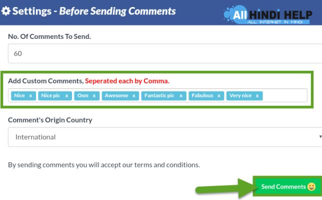 add-custom-comments-and-tap-send-comments