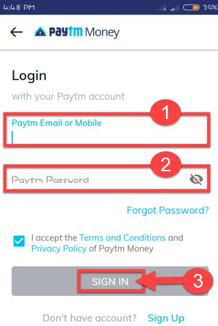 login-paytm-money-app