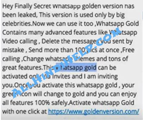 whatsapp-gold-message