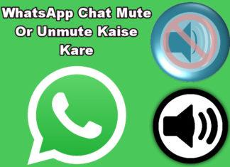 whatsapp chat mute or unmute kaise kare in hindi