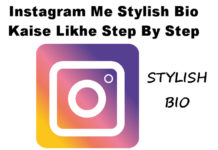 instagram me stylish bio kaise likhe in hindi