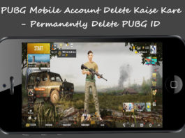 Pubg mobile account delete kaise kare permanently delete pubg id