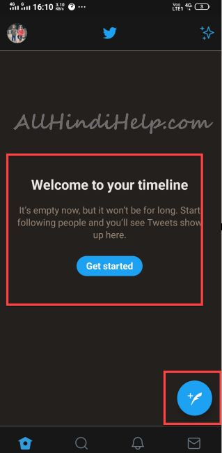 now your twitter account created