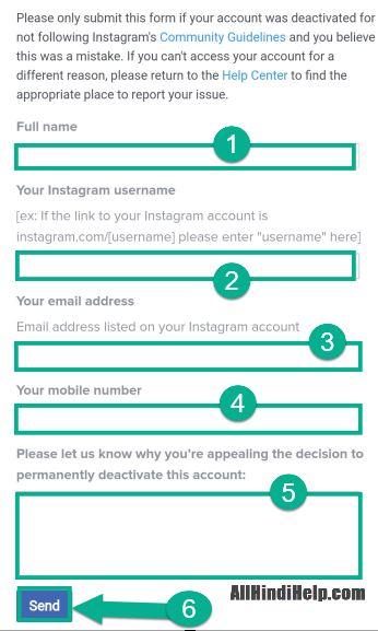 delete instagram account recover kare