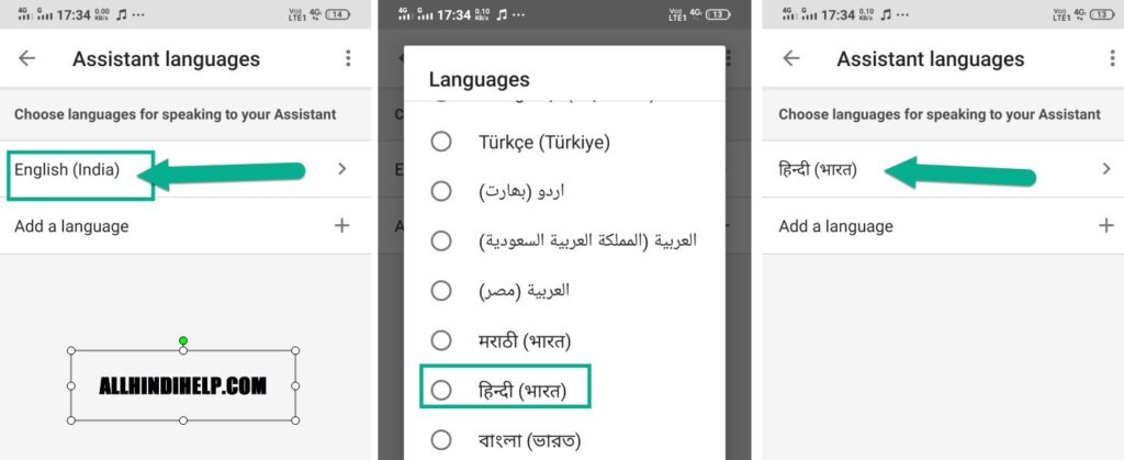 google assistant language change kare