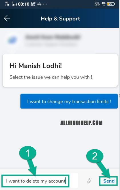 mobikwik account delete in hindi