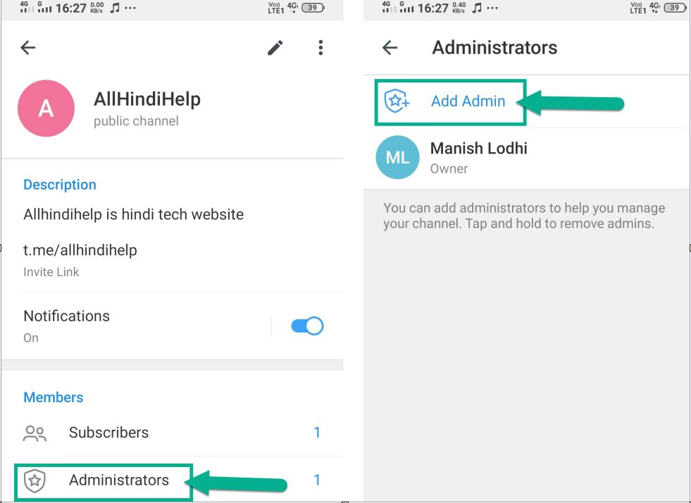 tap on administrators option and add admin