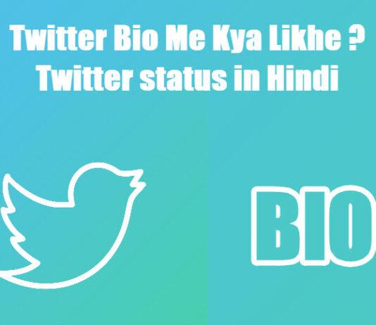 twitter bio me kya likhe twitter status in hindi