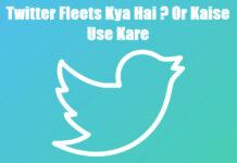 twitter fleets kya hai or kaise use kare