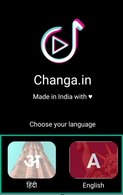select language in changa app