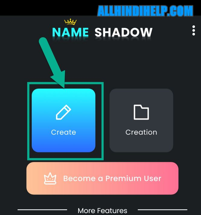 tap on create option