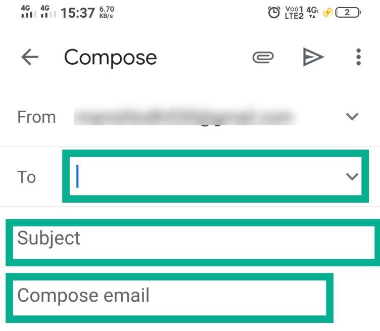 locked email send karne ka tarika