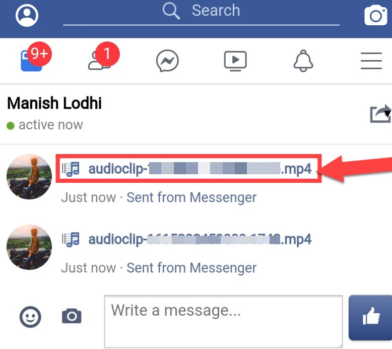 facebook voice message download kaise kare
