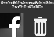 facebook lite account delete kaise kare in hindi