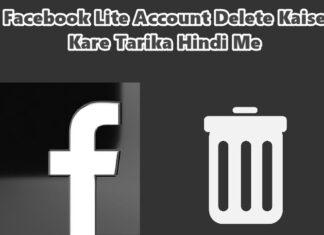 facebook lite account delete kaise kare in hindi