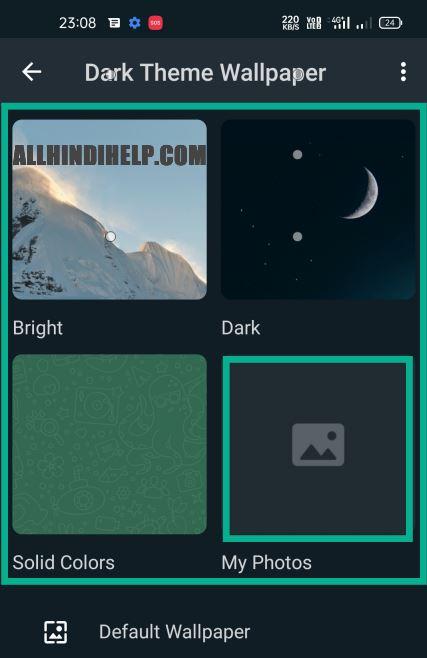 select my photos option