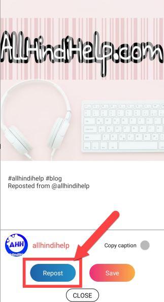 instagram repost kaise kare in hindi