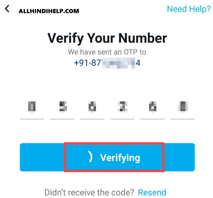 verify your-number