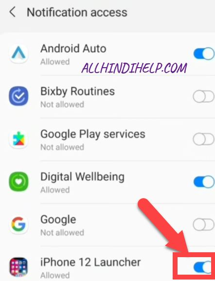 enable notification access in launcher app