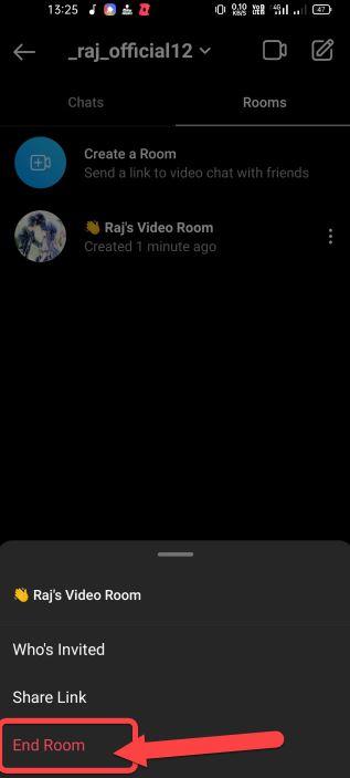 instagram room delete kaise kare